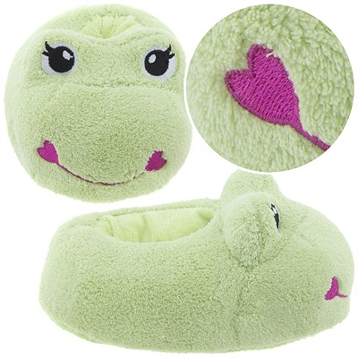 Light Green Frog Animal Slippers for Girls