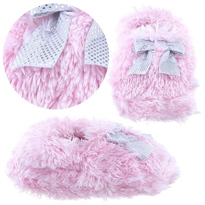 Pink Fuzzy Slippers for Toddler Girls