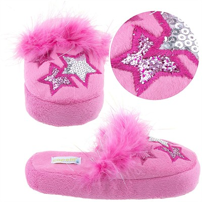 Pink Star Slippers for Toddlers and Girls