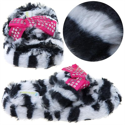 Zebra Thong Slippers for Toddlers and Girls