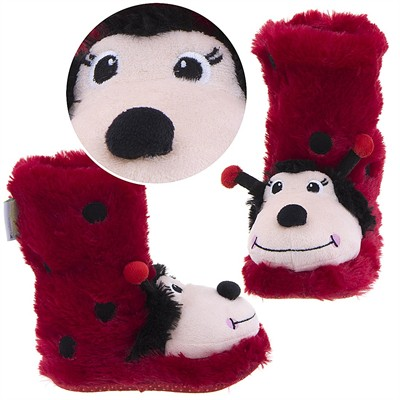Ladybug Animal Bootie Slippers for Girls