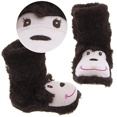Monkey Animal Bootie Slippers for Girls