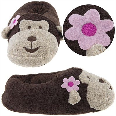 Plush Monkey Animal Slippers for Women