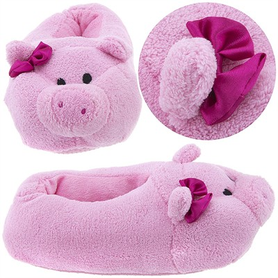 Pink Pig Animal Slippers for Women