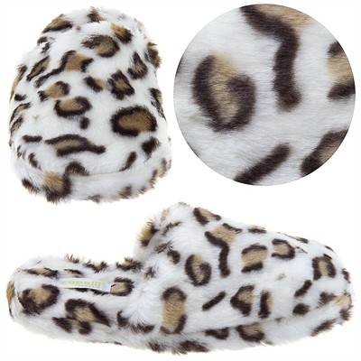 Leopard Print Slip On Slippers for Women