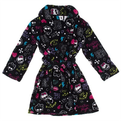 Monster High Black Bathrobe for Girls