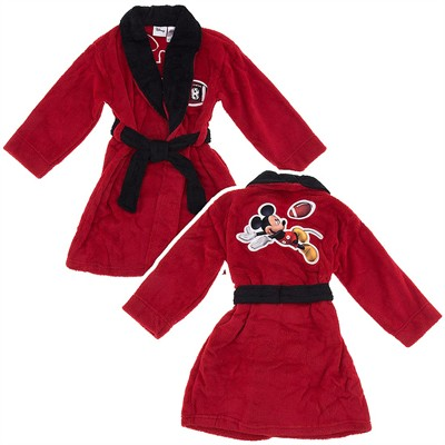 Mickey Mouse Red Football Robe for Toddler Boys