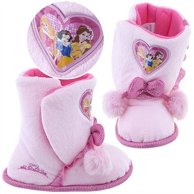 Disney Princess Boot Slippers for Toddler Girls