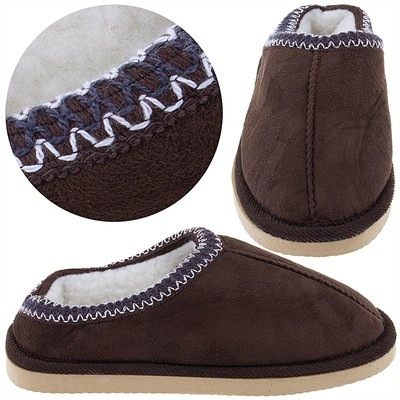 Chocolate Scuff Slippers for Women