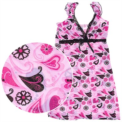 Pink Heart Chemise for Women