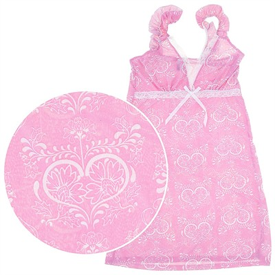Pink and White Chemise for Women