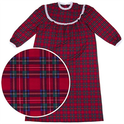 Red Plaid Classic Christmas Nightgown for Women