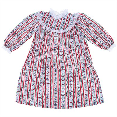 Tyrolean Classic Christmas Nightgown for Toddler Girls