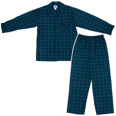 Blackwatch Classic Christmas Coat-Style Pajamas for Infants, Toddlers and Boys