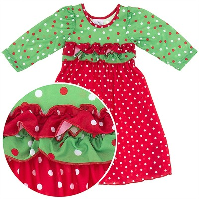 Laura Dare Holiday Cheer Christmas Nightgown for Toddlers and Girls
