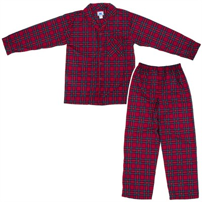 Red Plaid Classic Christmas Pajama for Men