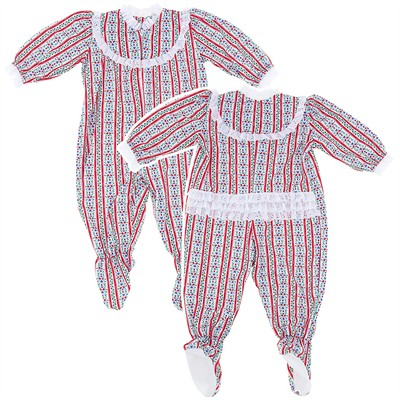 Tyrolean Classic Christmas Footed Pajama for Baby Girls