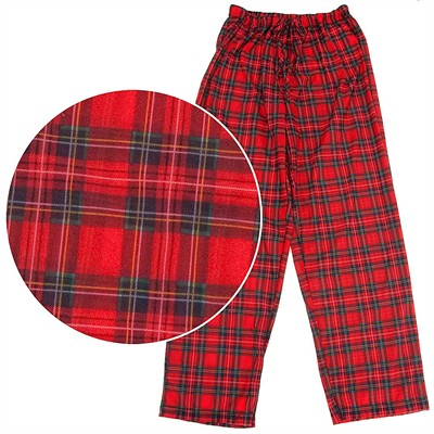 Holiday Red Plaid Pajama Pants for Men