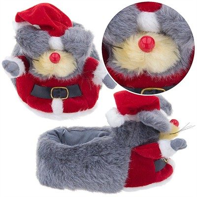 Santa Mouse Christmas Slippers for Kids