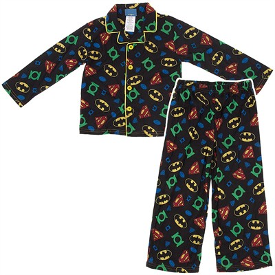 Justice League Coat Style Pajamas for Boys