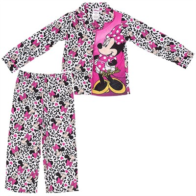 Minnie Mouse Leopard Print Pajamas for Girls