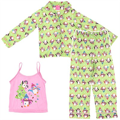 Green Penguin Pajamas for Girls
