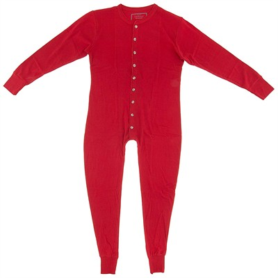 Red Union Suit for Men