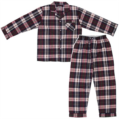Comfort Zone Burgundy Flannel Pajamas for Men