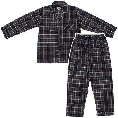 Comfort Zone Gray Plaid Flannel Pajamas for Men
