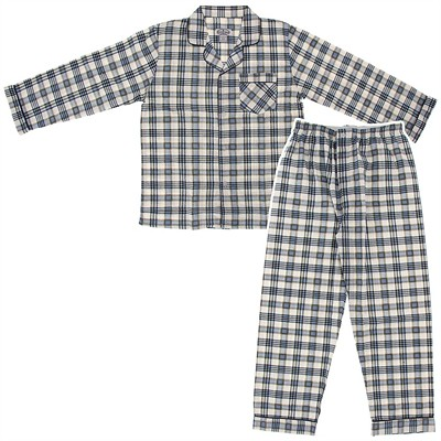 Comfort Zone Light Blue and White Flannel Pajamas for Men
