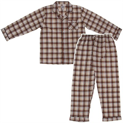 Comfort Zone Tan Flannel Pajamas for Men