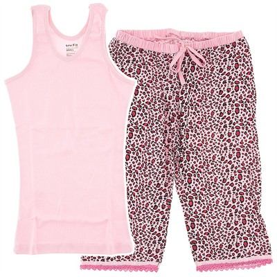 Pink Leopard Capri Pajamas for Women