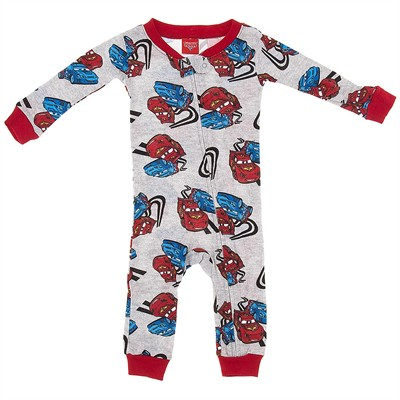 Cars Cotton One-Piece Pajamas for Baby Boys