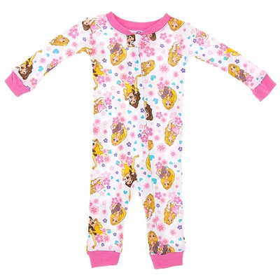 Disney Princess Cotton One-Piece Pajamas for Baby Girls