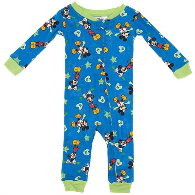 Mickey Mouse Cotton One-Piece Pajamas for Baby Boys