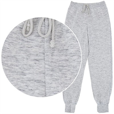 Heather Gray Cotton Pajama Pants for Women
