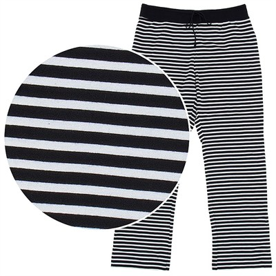 Striped Cotton Pajama Pants for Women