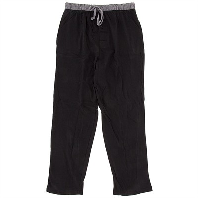 Black Cotton Knit Pajama Pants for Men