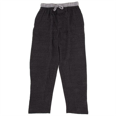 Charcoal Cotton Knit Pajama Pants for Men