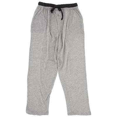 Heather Gray Cotton Knit Pajama Pants for Men