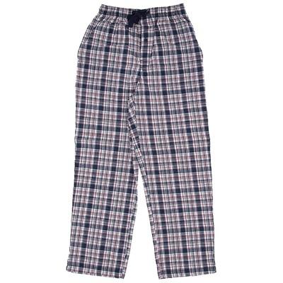 Navy Plaid Cotton Pajama Pants for Men