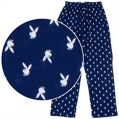 Playboy Navy Cotton Pajama Pants for Men