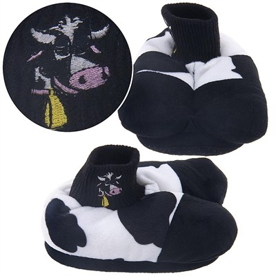Cow Animal Feet Mooing Slippers for Kids
