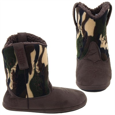 Cowboy Kickers Brown Camo Slippers for Women