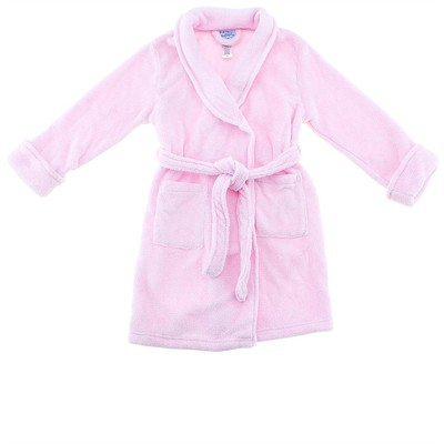 Pink Plush Bath Robe for Toddlers and Girls