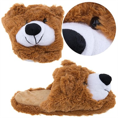 Brown Bear Slippers for Girls
