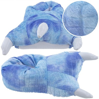 Blue Dinosaur Claw Slippers for Women