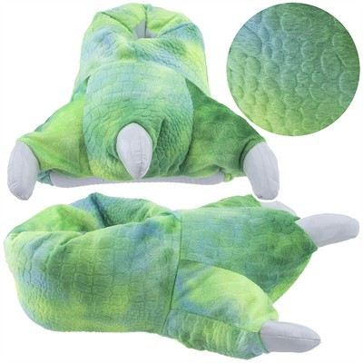 Green Dinosaur Claw Slippers for Women
