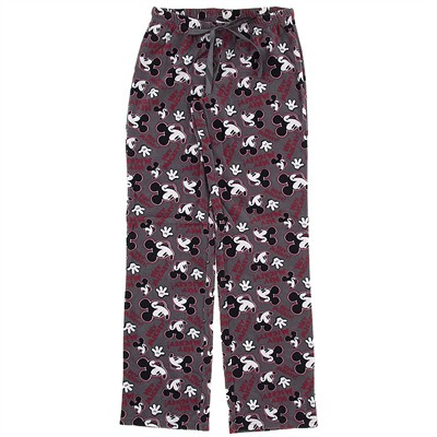 Gray Mickey Mouse Fleece Pajama Pants for Women
