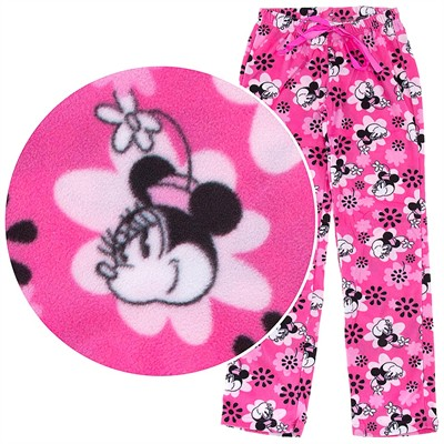 Pink Minnie Mouse Fleece Pajama Pants for Women